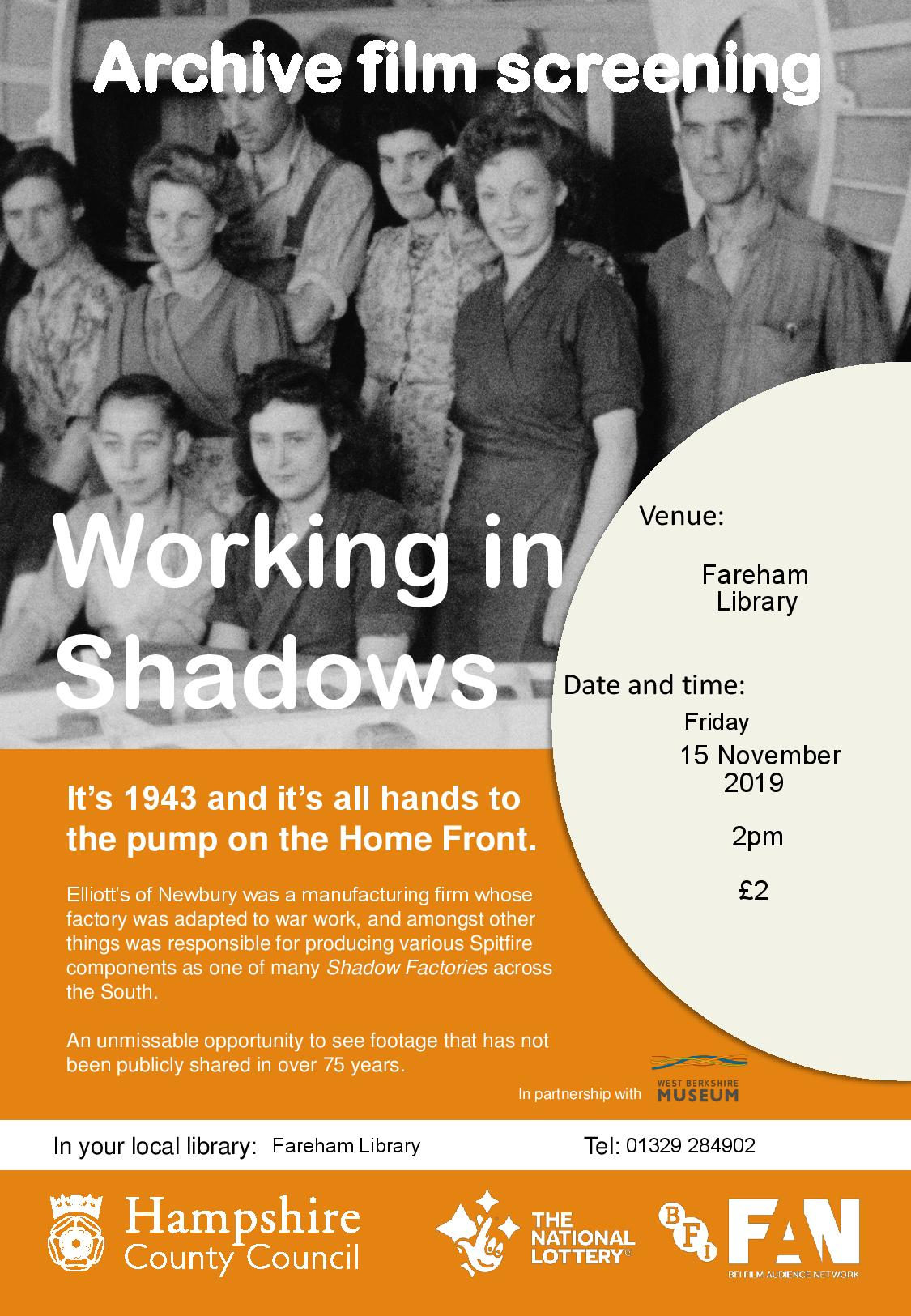 Working in Shadows – Archive Film Screening at your library