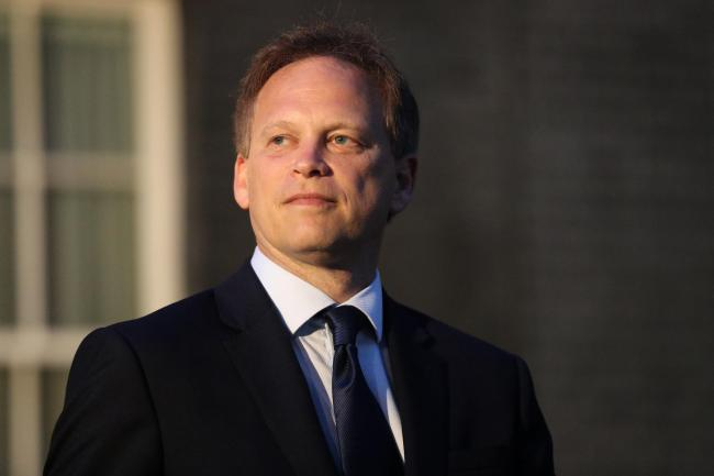 Newly installed Transport Secretary Grant Shapps leaving Downing Street, London, after meeting the new Prime Minister Boris Johnson..