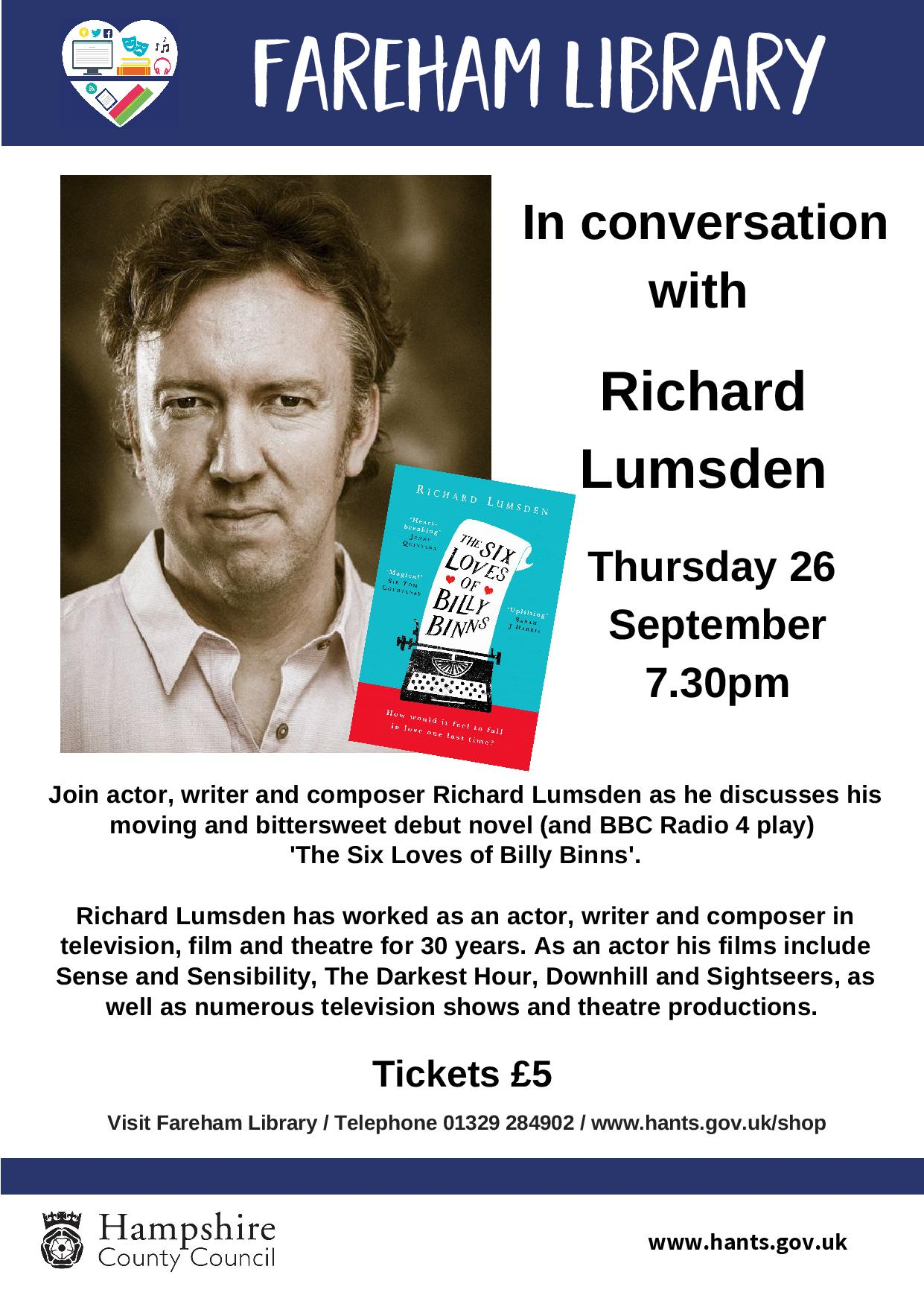 In conversation with Richard Lumsden