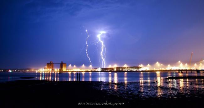 A lightning strike over Southampton, captured by Daily Echo Camera Club member Simon Woodward.