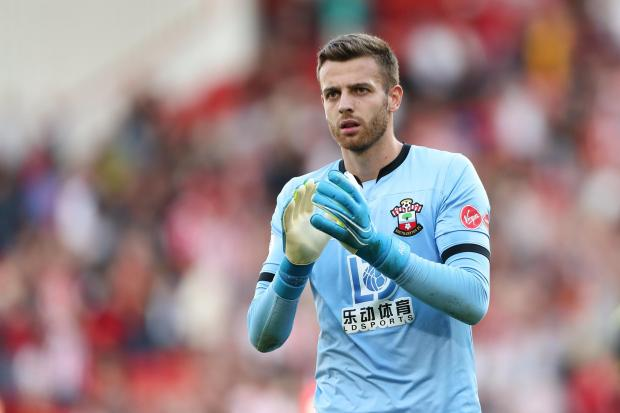Daily Echo: Saints goalkeeper Angus Gunn