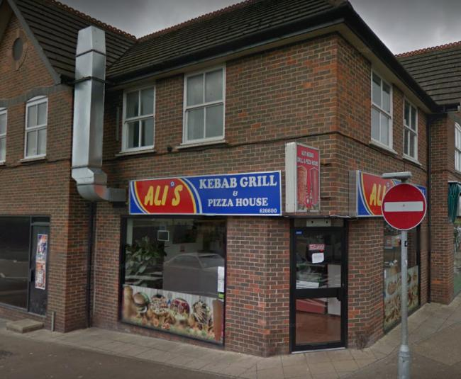 Ali's Kebab Grill and Pizza House in Gudge Heath Lane. Picture: Google Street View.