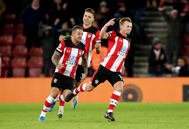 Daily Echo: James Ward-Prowse wheels away after netting the winner