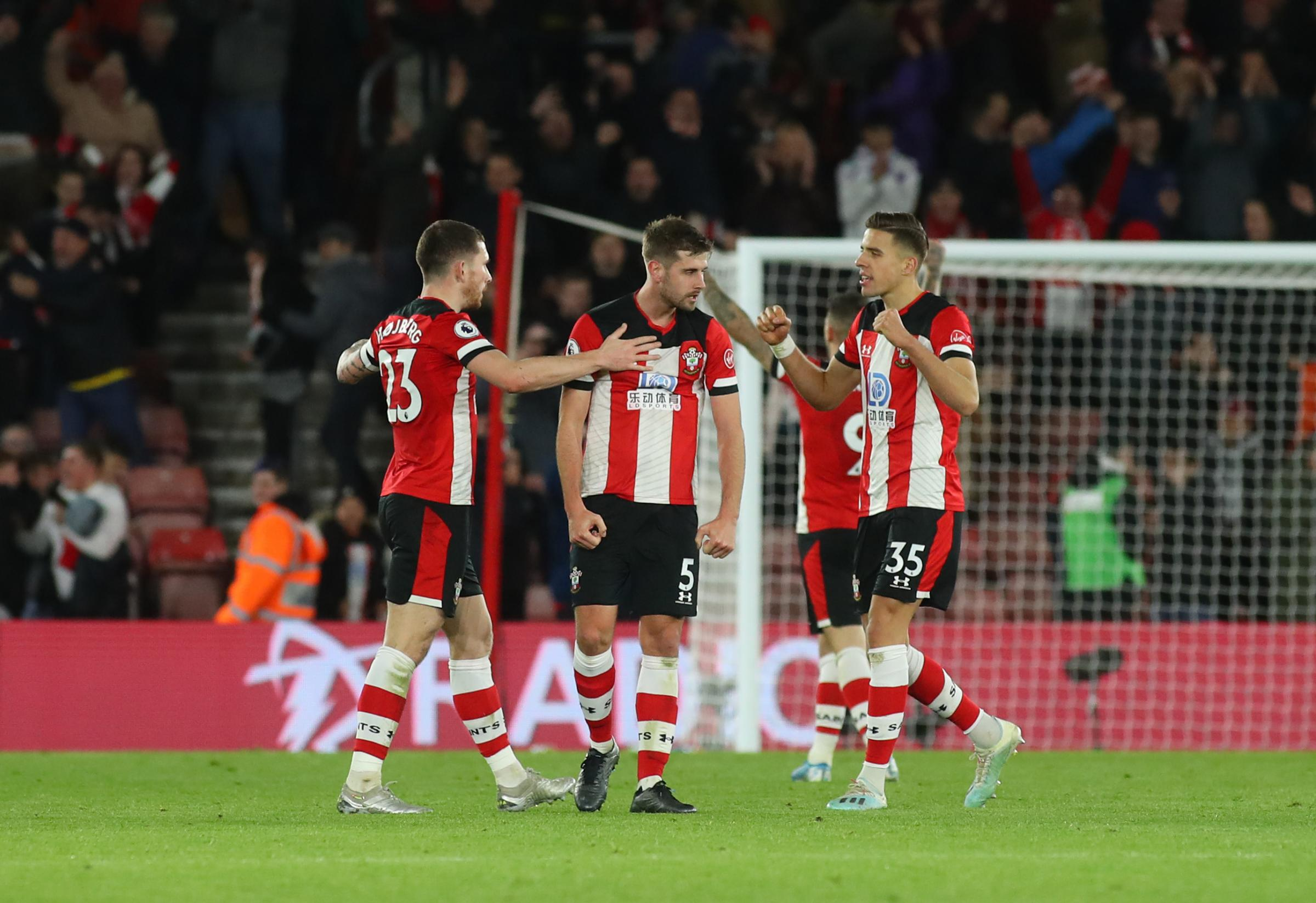 Southampton's players will train at home until next month