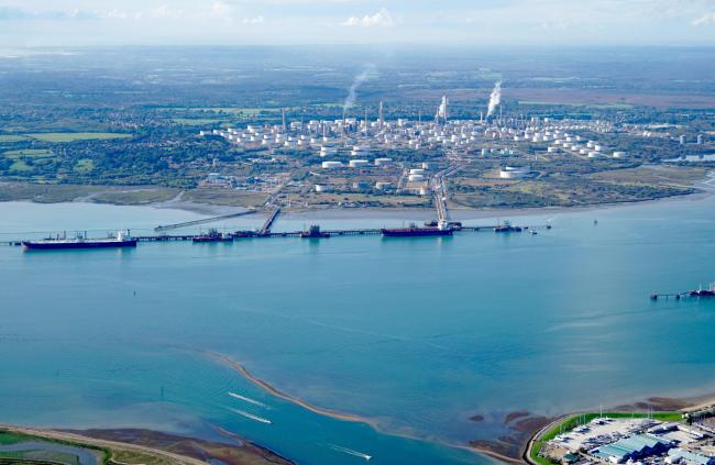 Pictures supplied by Stephen Bath from a light aircraft flight over the Southampton area. .MUST credit - Picture by Stephen Bath. .Fawley Refinery.