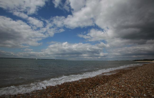 Stokes Bay, where caller Chris visited at the weekend.