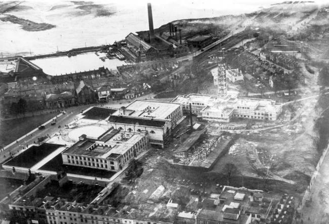 Civic Centre construction in the early 1930s