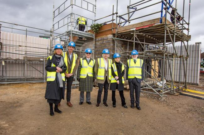 Dame Laura Lee DBE (CEO of Maggies), George Hillier, David McAlpine, Stewart Grimshaw, Amanda Levete CBE (Lead architect) and Mark Woodruff.
