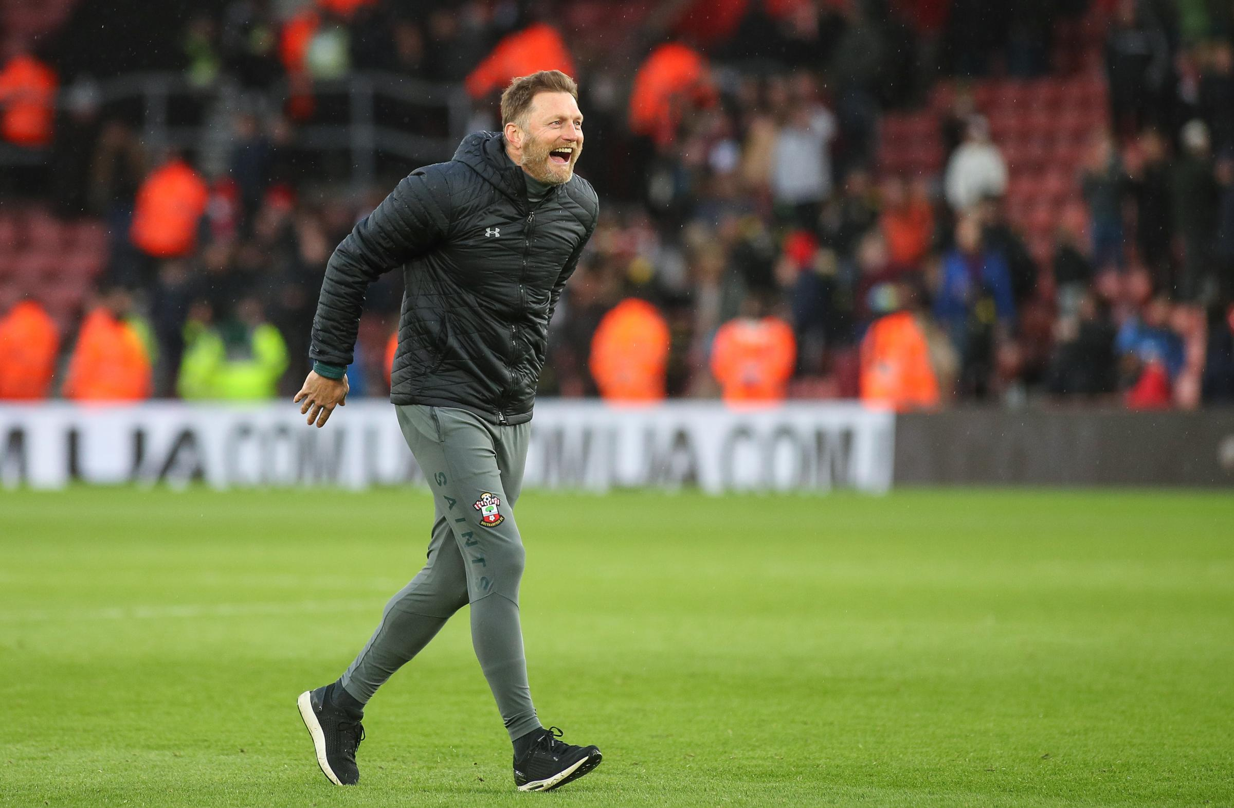 Southampton boss Ralph Hasenhuttl goes on the front foot