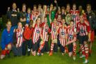 Sholing reserves celebrate their league title win. Pic by Nick Guise-Smith/MirrorBoxStudios