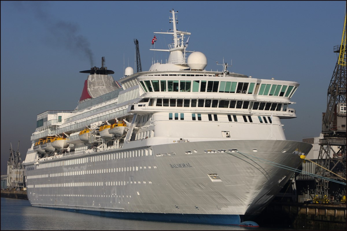 The Southampton-based cruise ship Balmoral