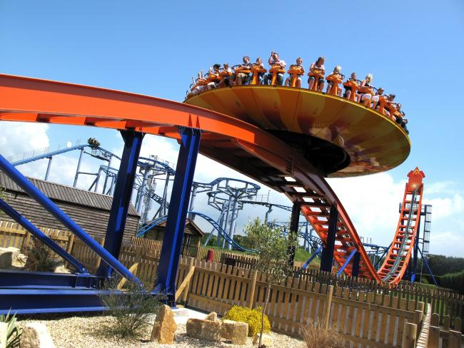 Paultons Park closes rides due to high winds. Picture: The Edge at Paultons Park.