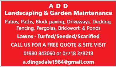 A D D Lanscaping & Garden Maintenance