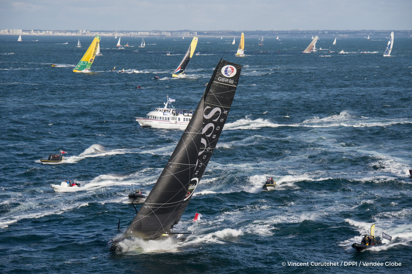 Alex Thomson's Hugo Boss. Pic by Vincent Curutchet/ DPPI/ Vendee Globe