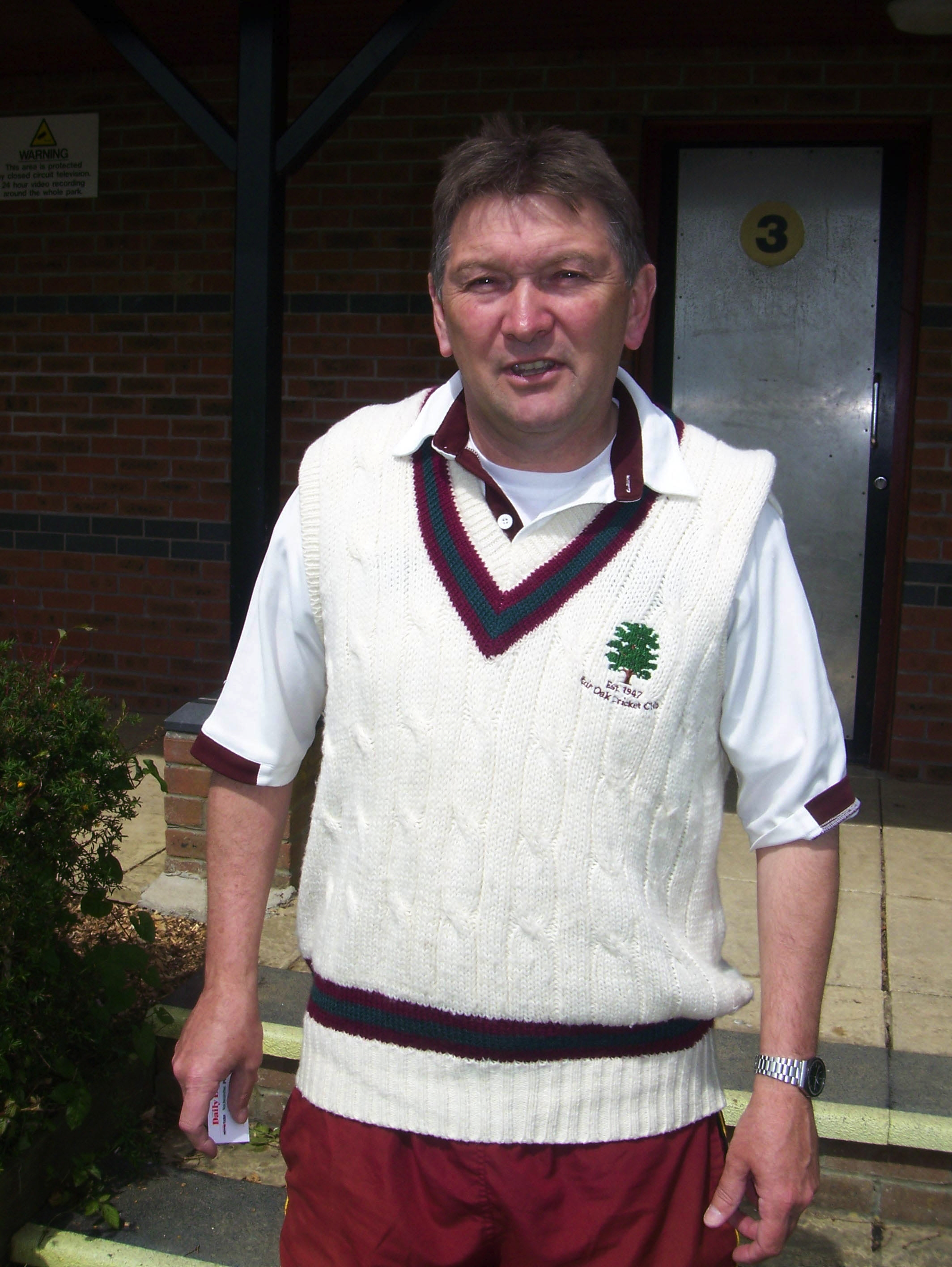 Tony Oxley, Fair Oak CC chairman and Hampshire Cricket Board non-executive director