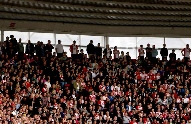 Fans packed inside St Mary's