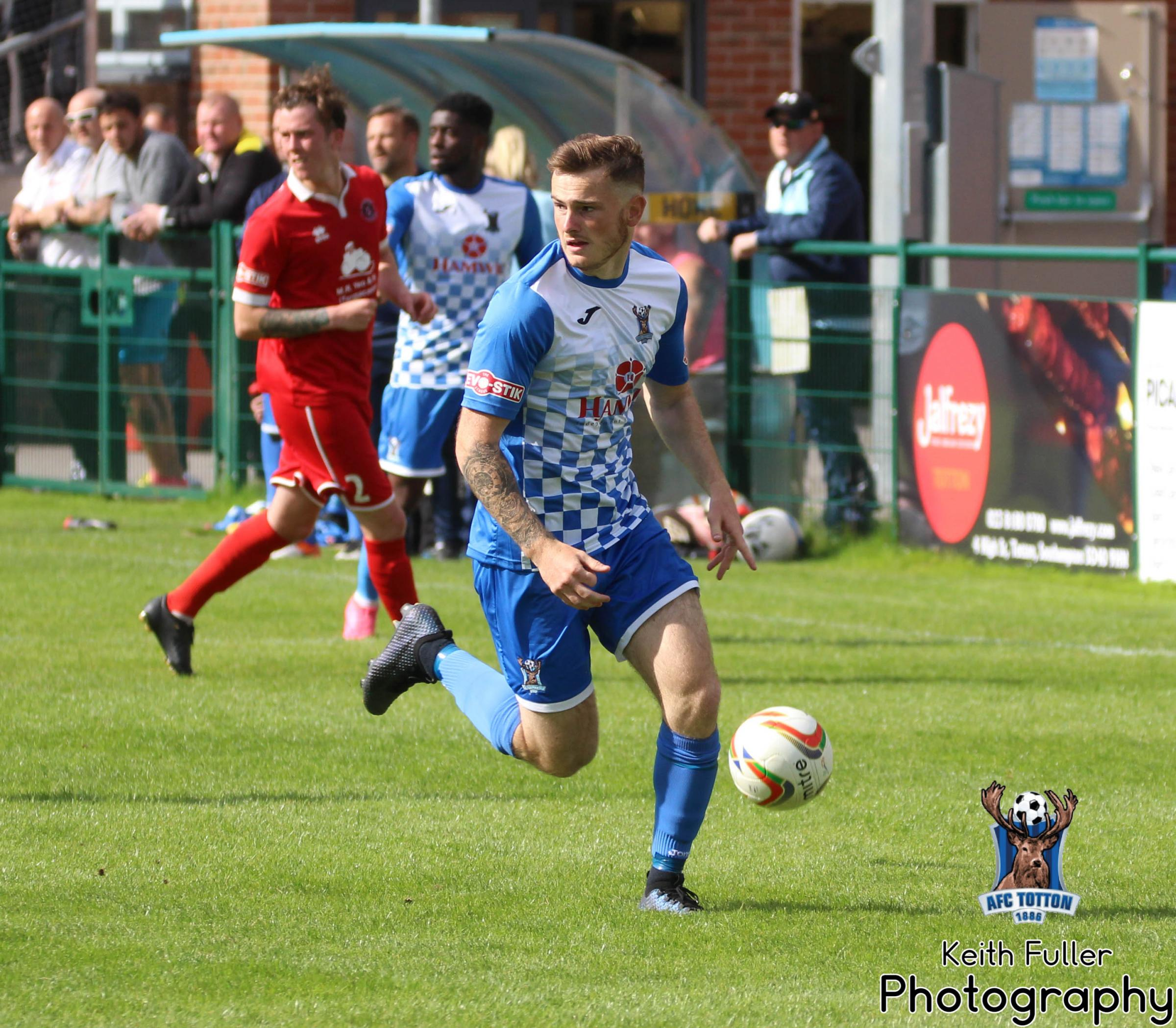 AFC Totton scorer Charlie Gunson (photo: Keith Fuller)
