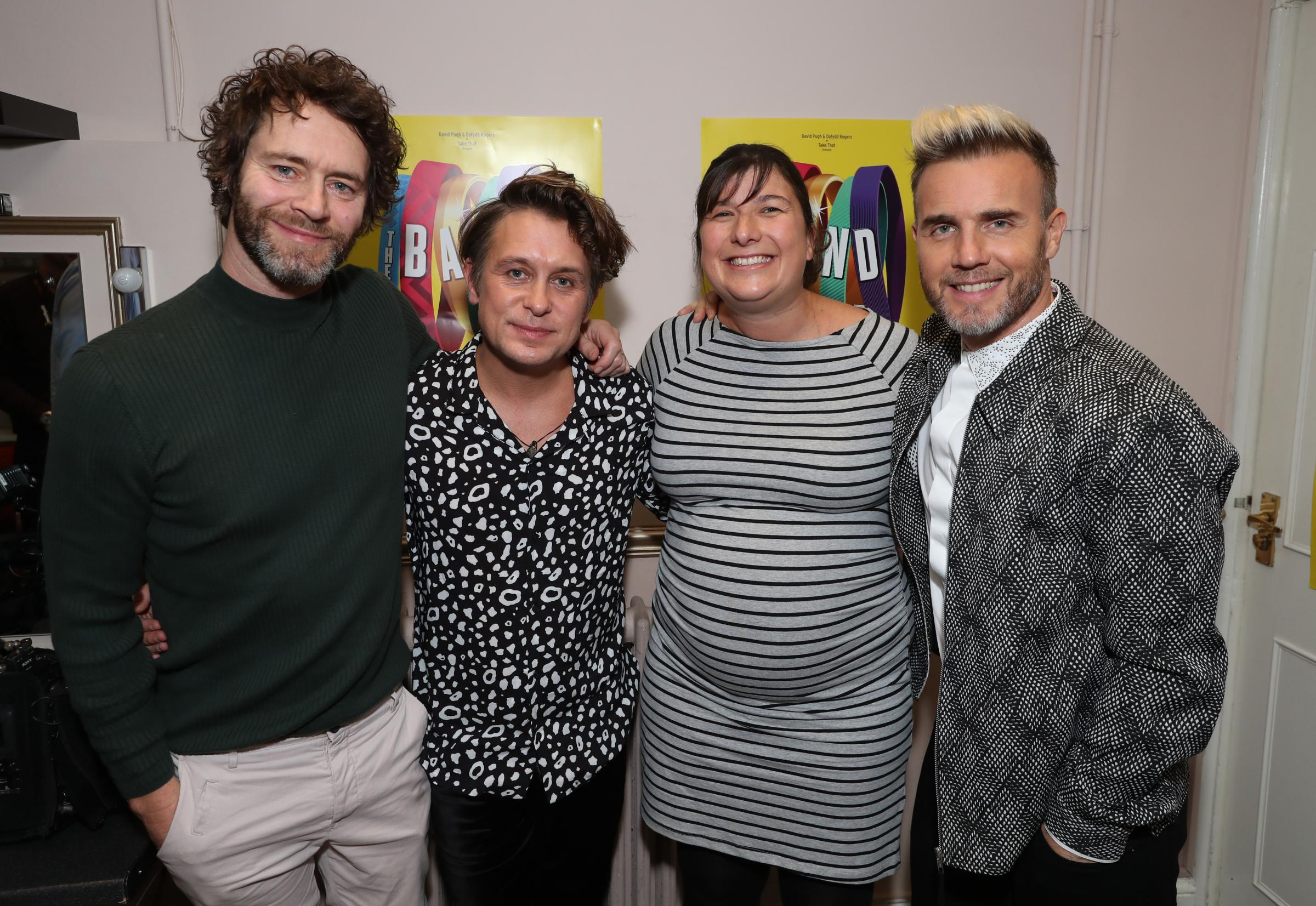 Howard Donald, Mark Owen and Gary Barlow of Take That picture at the Mayflower Theatre on the opening night of The Band - NO SYNDICATION PHOTO ONLY TO BE USED IN THE DAILY ECHO, SOUTHAMPTON CITIZEN AND BOURNEMOUTH ECHO NO PHOTO SALES