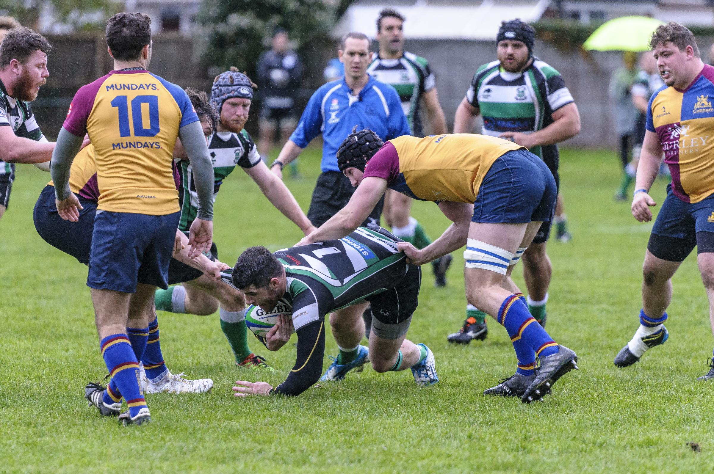 Rugby Tottonians v Cobham, Totton's Eoin Baxter.