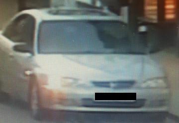 A picture of the car police say was involved in a dangerous driving incident