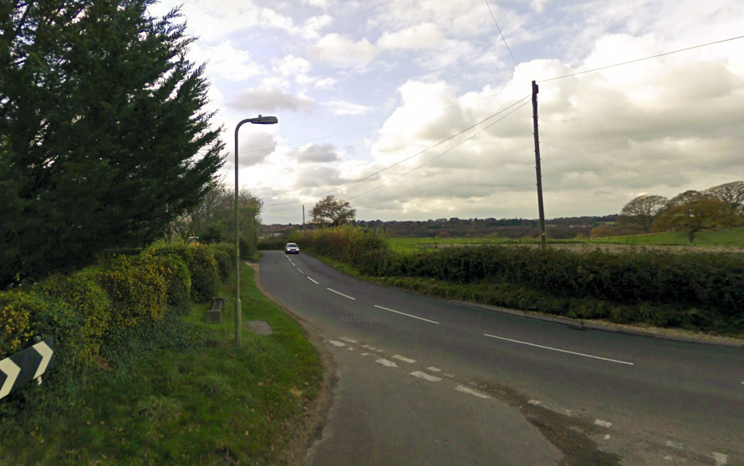 The B3054 in Walhampton (pic: Google Maps)