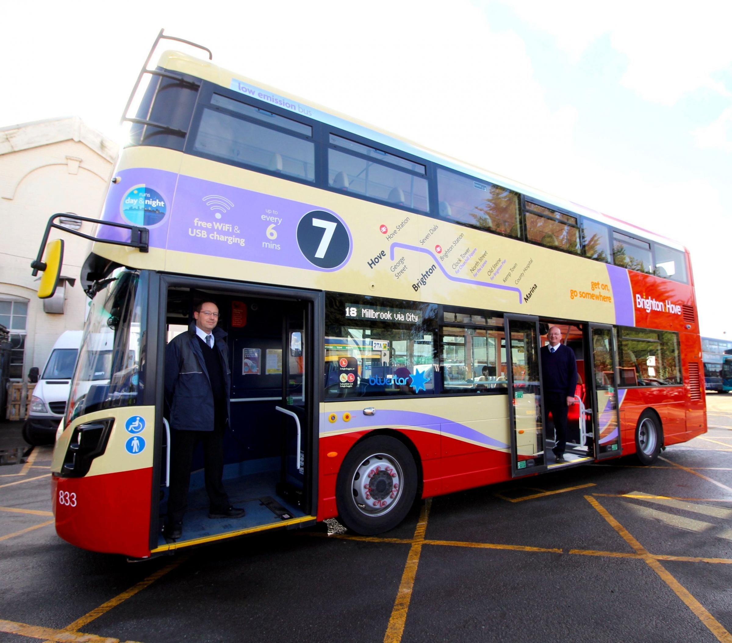 The Brighton and Hove coloured bus that has been spotted around Southampton. But don't worry, it is a Bluestar service.