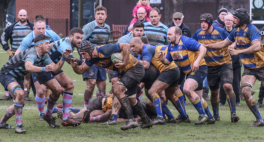 Romsey's Ally Wood in the thick of the action (photo: Terence Jamieson)