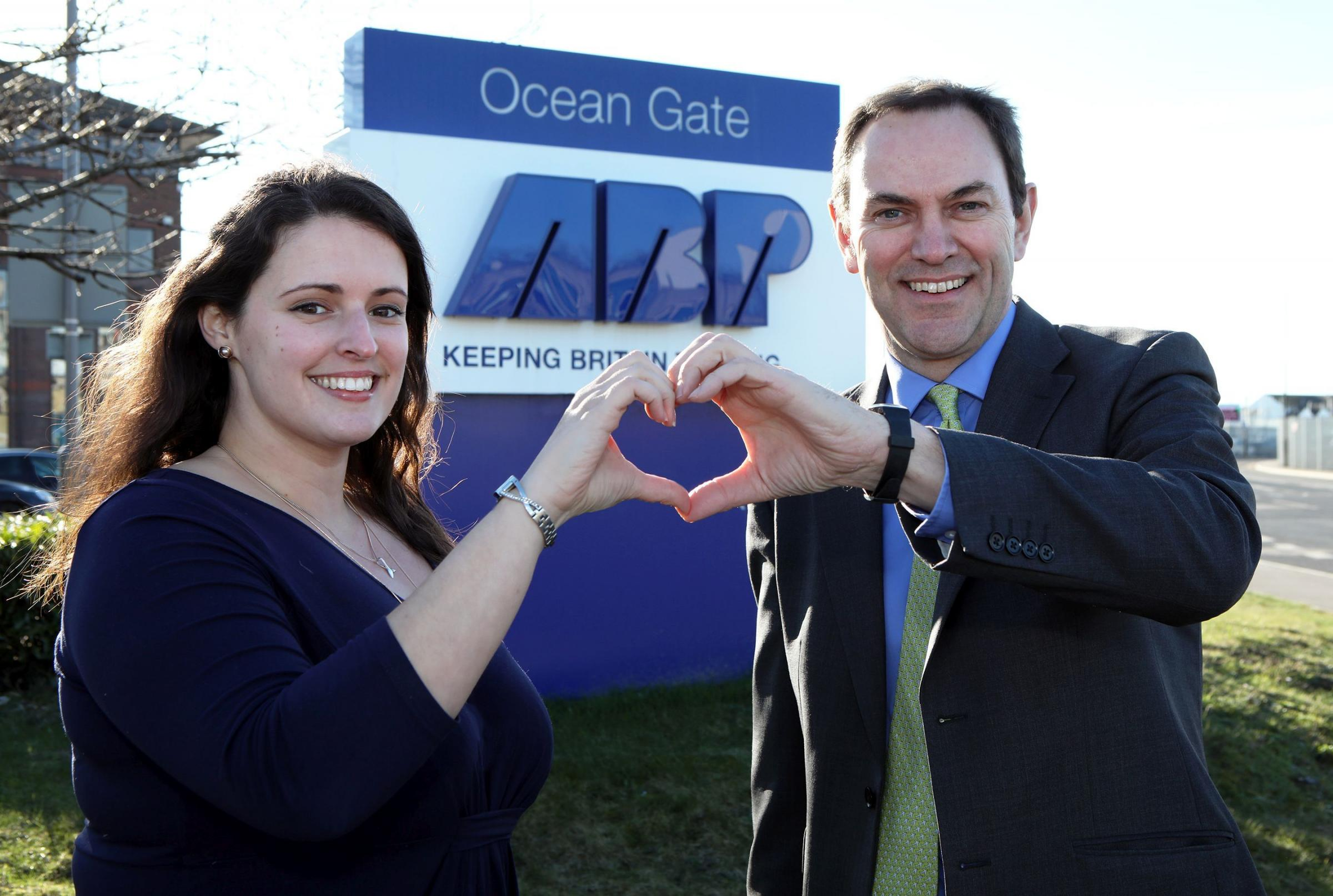 Nikki Rees from the ABP Southampton Marathon and Alastair Welch, ABP Southampton director, urge running clubs to show some love for the city's runners and sign up as ABP Milemakers