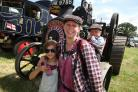 22 July 2016 - Photo Stuart Martin - Netley Marsh Steam and Craft Show 2016 - Gemma Hirst with William Hirst and Connie Hayward.