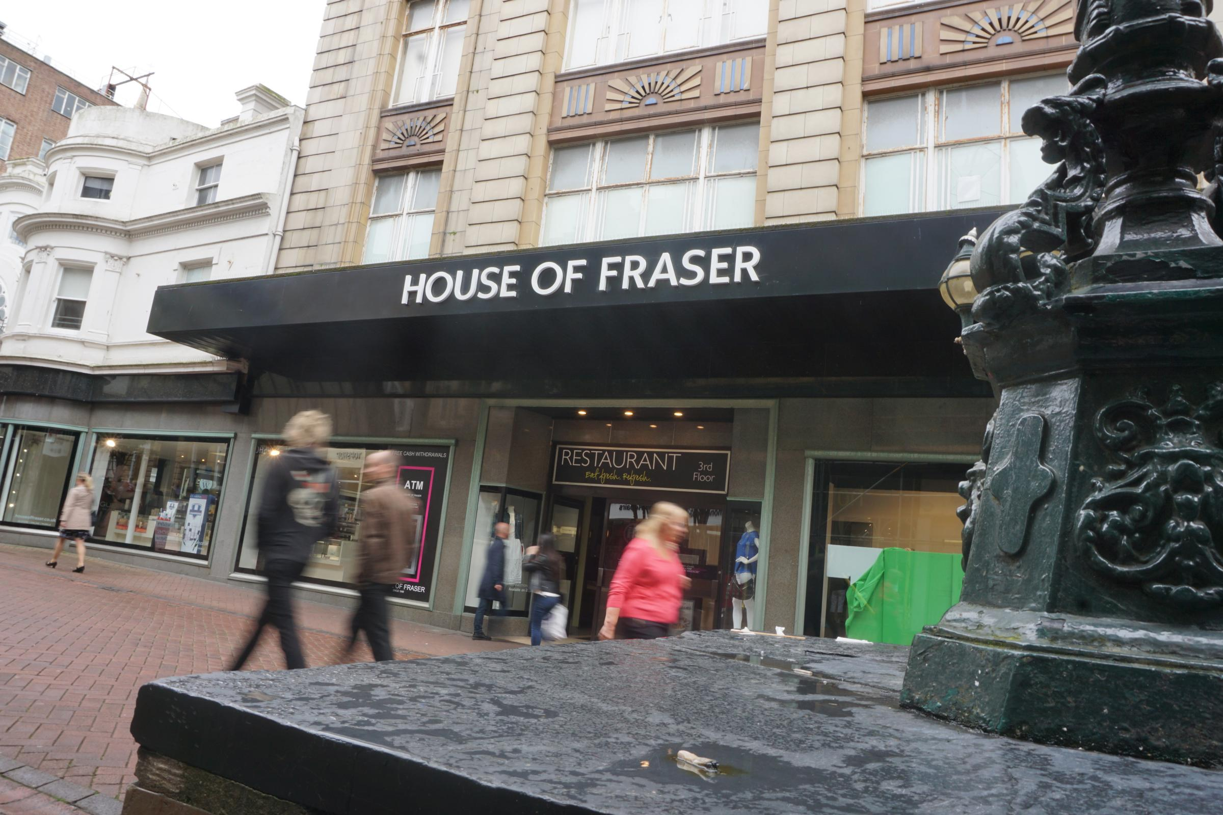 House of Fraser in Bournemouth is set to close