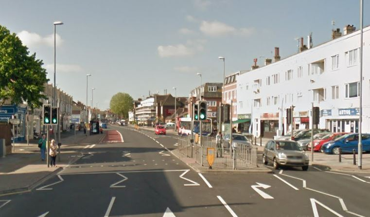 The incident happened on London Road, Portsmouth. Google Street View