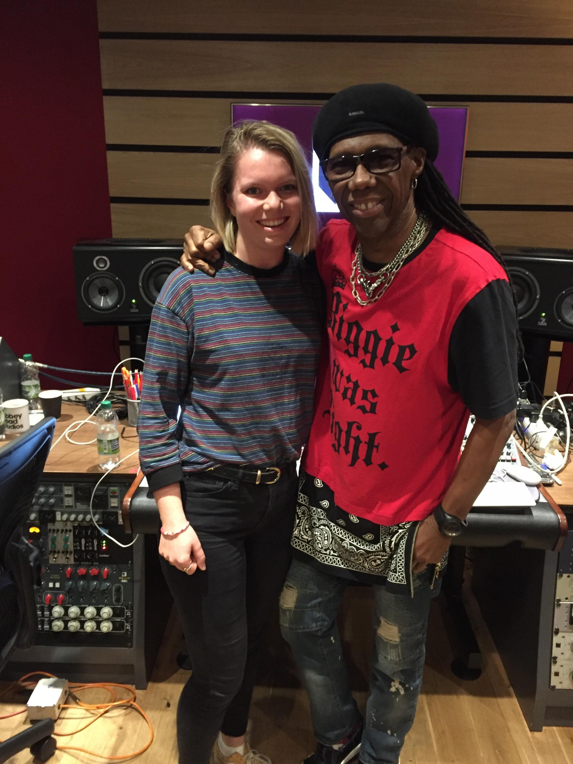 Alice with Nile Rodgers