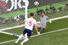 John Stones scores for England in their World Cup win over Panama (Tim Goode/PA)