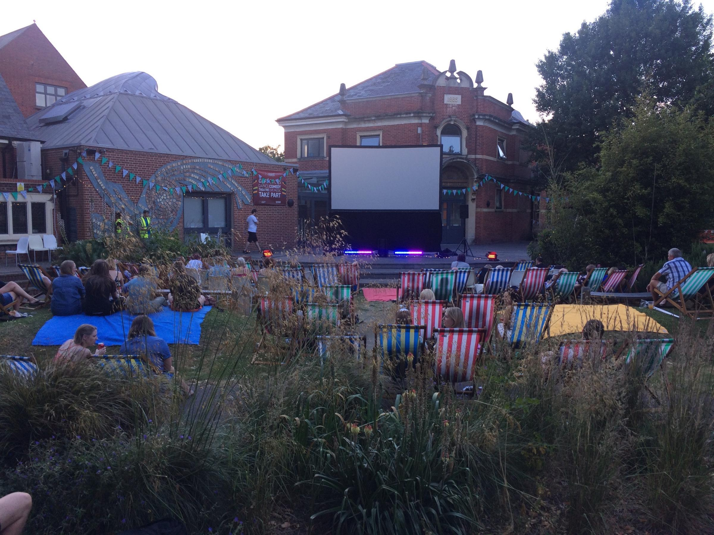 Outdoor film at The Point