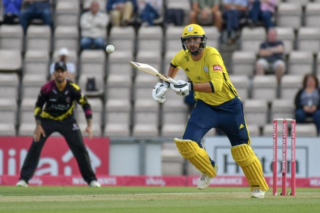 James Vince in action against Somerset on Wednesday night (Photo by Michael Berkeley)