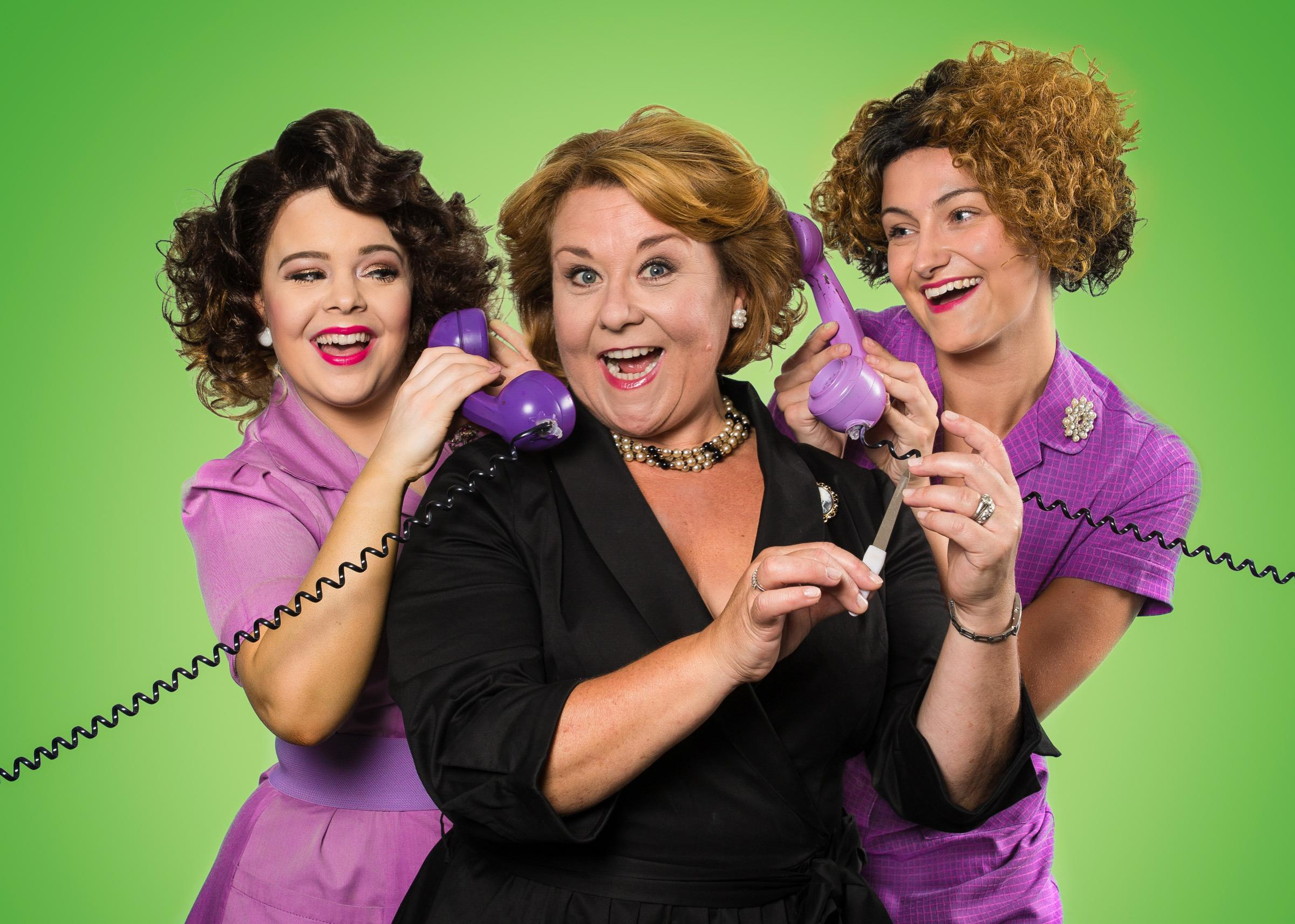 SALAD DAYS -  Francesca Pimm (Helouise) Wendi Peters (Lady Raeburn) and Ashlee Young (Manicurist). Photo Credit Mark Senior