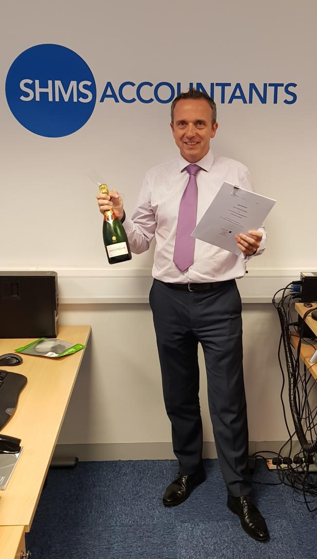 Stephen Humphrey celebrates the expansion of SHMS accountants.