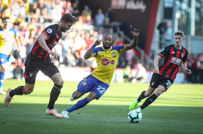 Nathan Redmond in action for Saints against Bournemouth