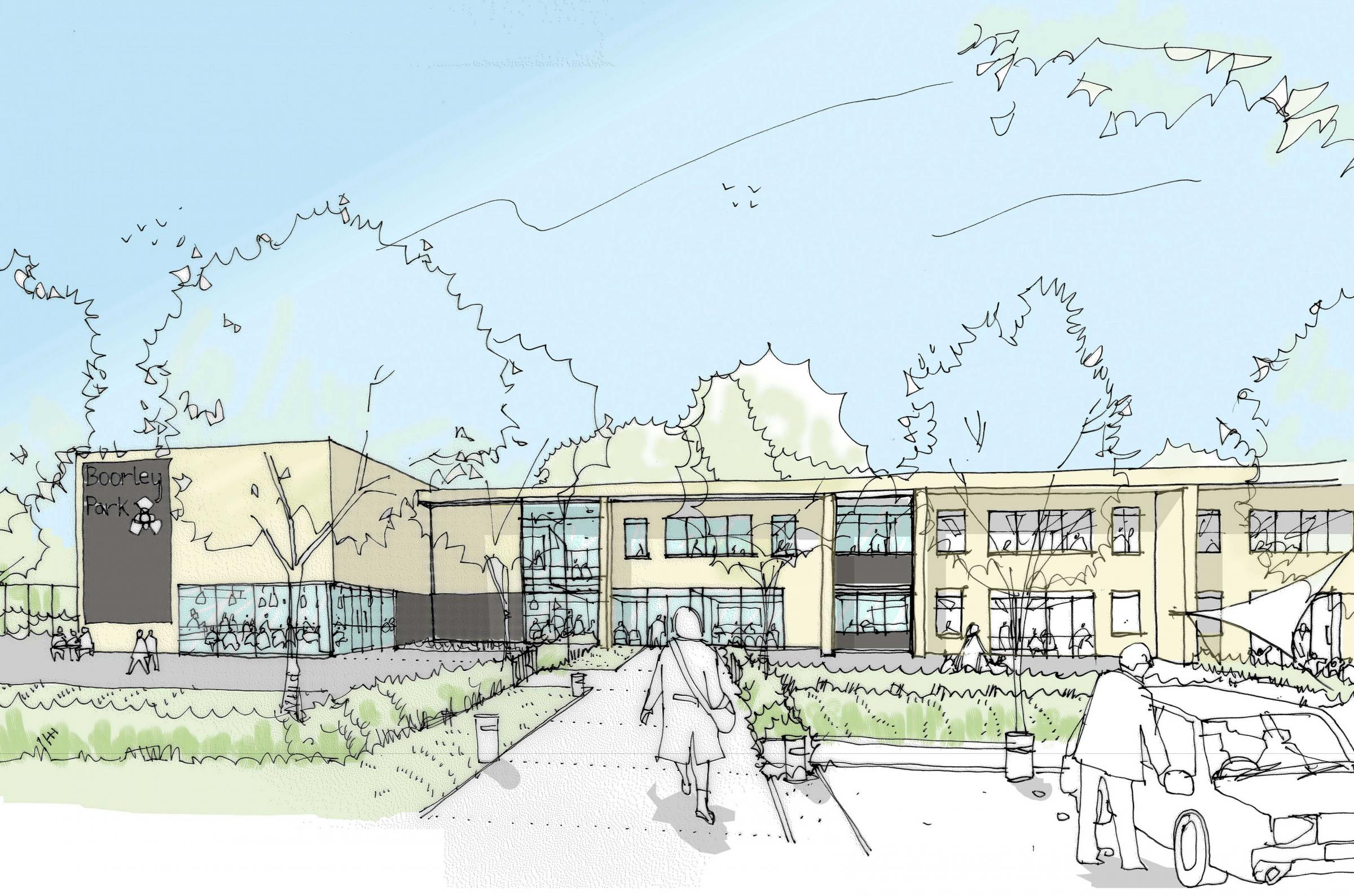 An artists impression of the school