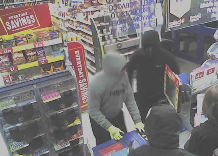CCTV - Attempted robbery at McColls in Hunts Pond Road in Fareham