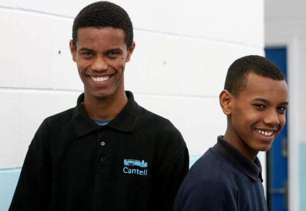 Daily Echo: Mohamed and Zak Mohamed during their school days