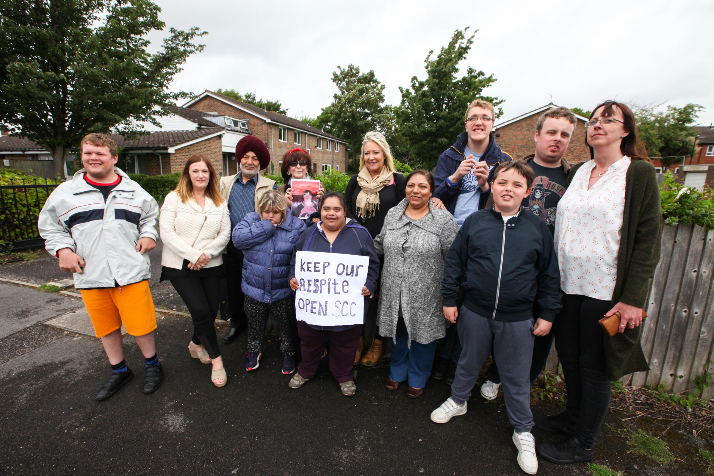 Photo Stuart Martin -  Parents and their children campaign against the closure of Kentish Road Respite centre in Shirley.
