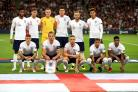 The England squad gathering for a team photo