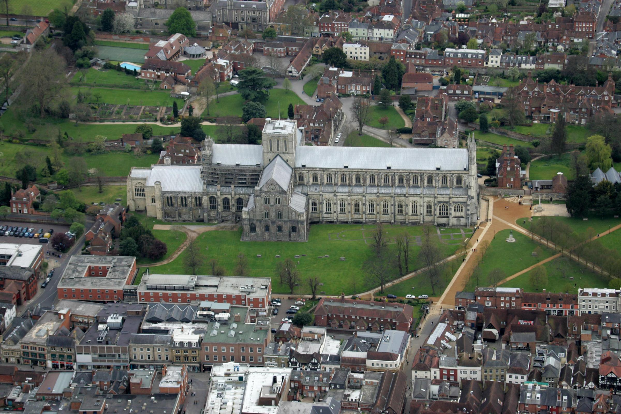 Winchester Cathedral from the sky