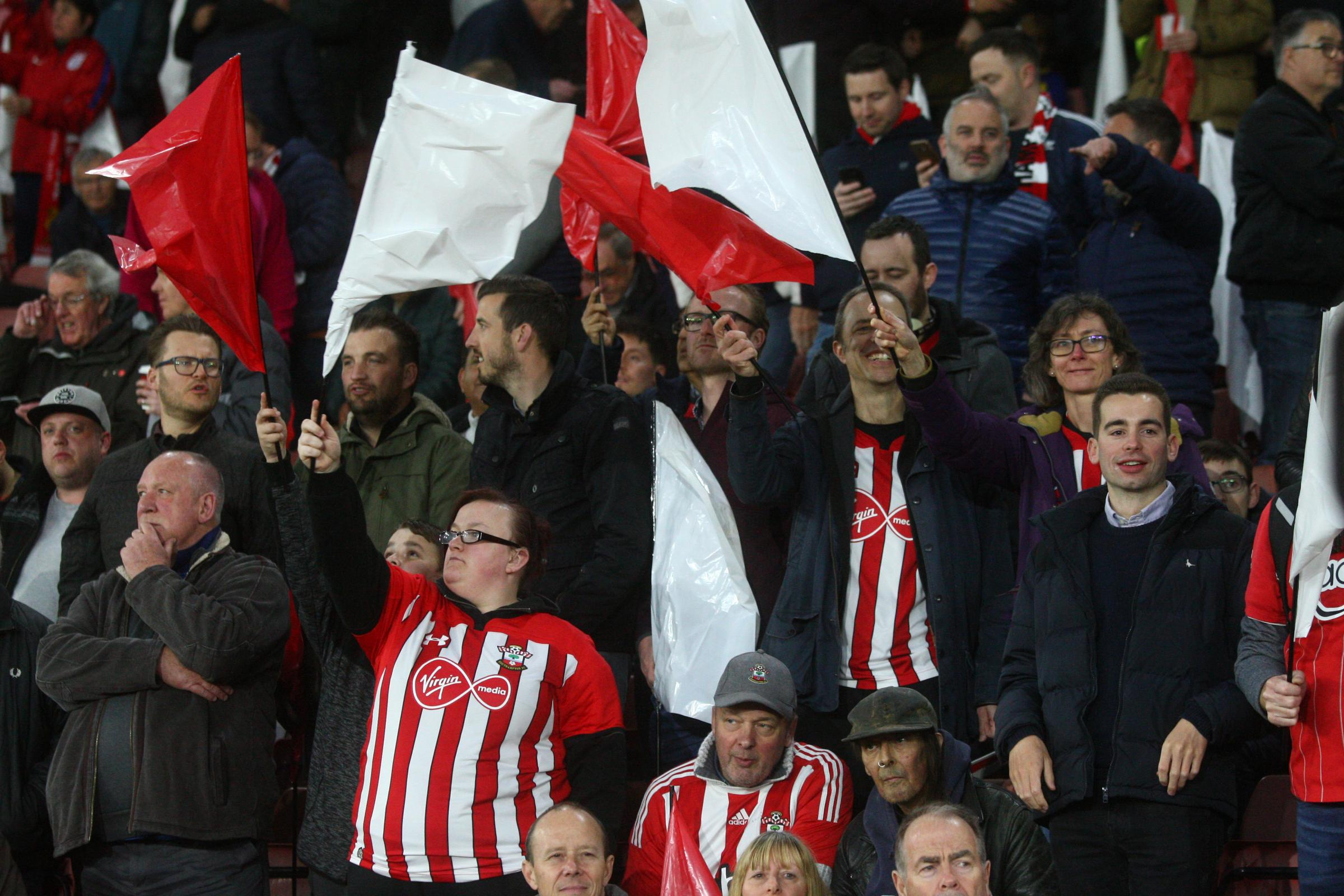 Saints fans helped create an excellent atmosphere at St Mary's on Friday night