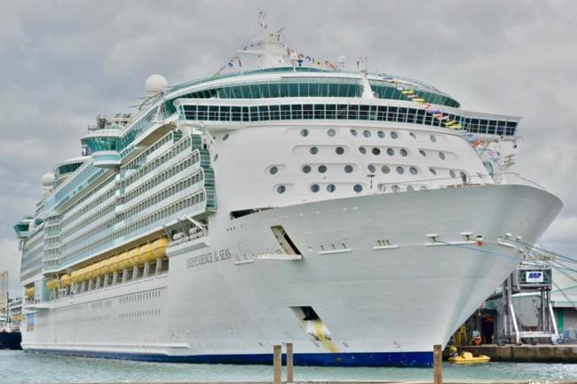 Independence of the Seas docked in Southampton. Photo by Daily Echo Camera Club member Linda Rogers..