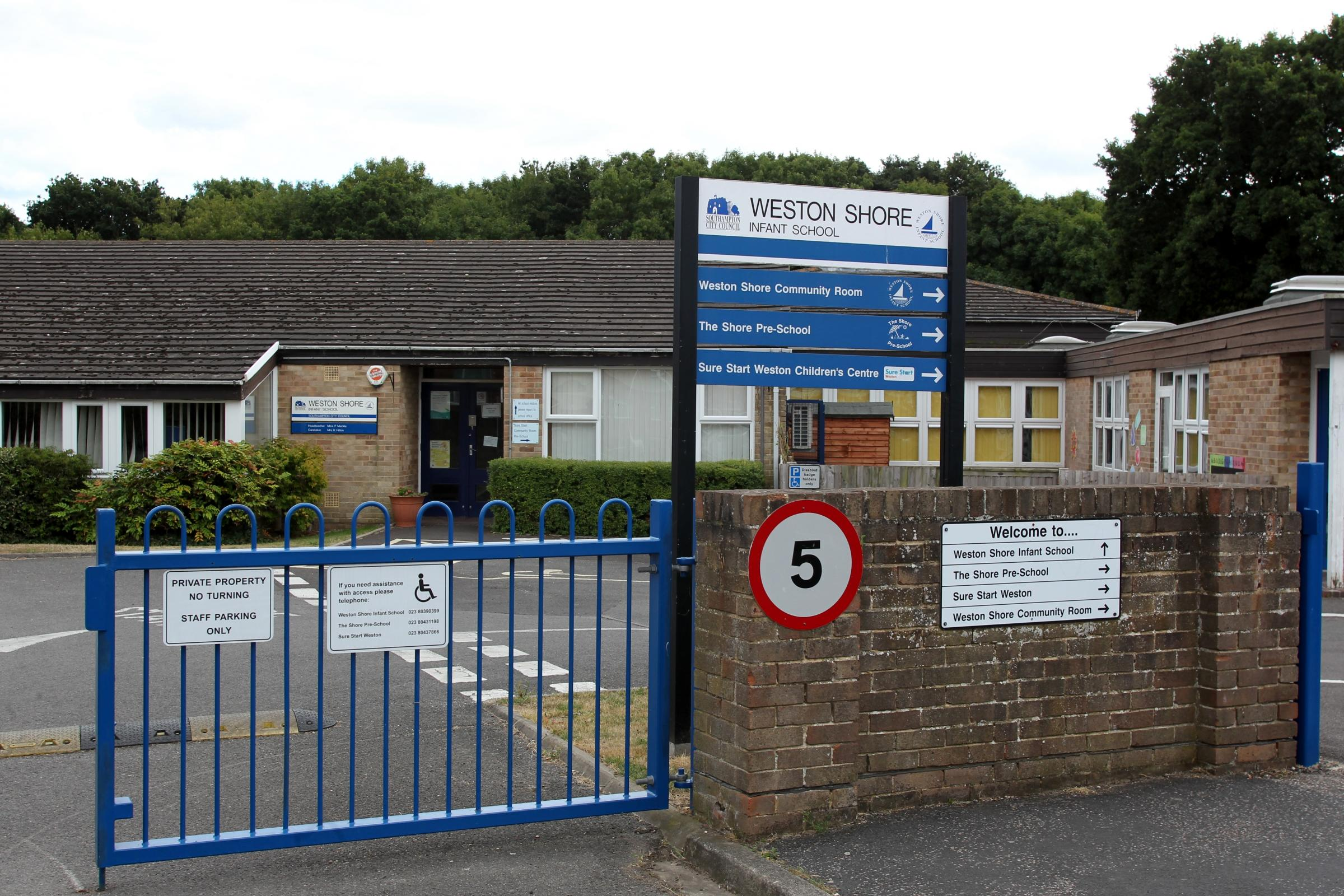 Exterior, Weston Shore Infant School, Weston         Tuesday 13th August 2013