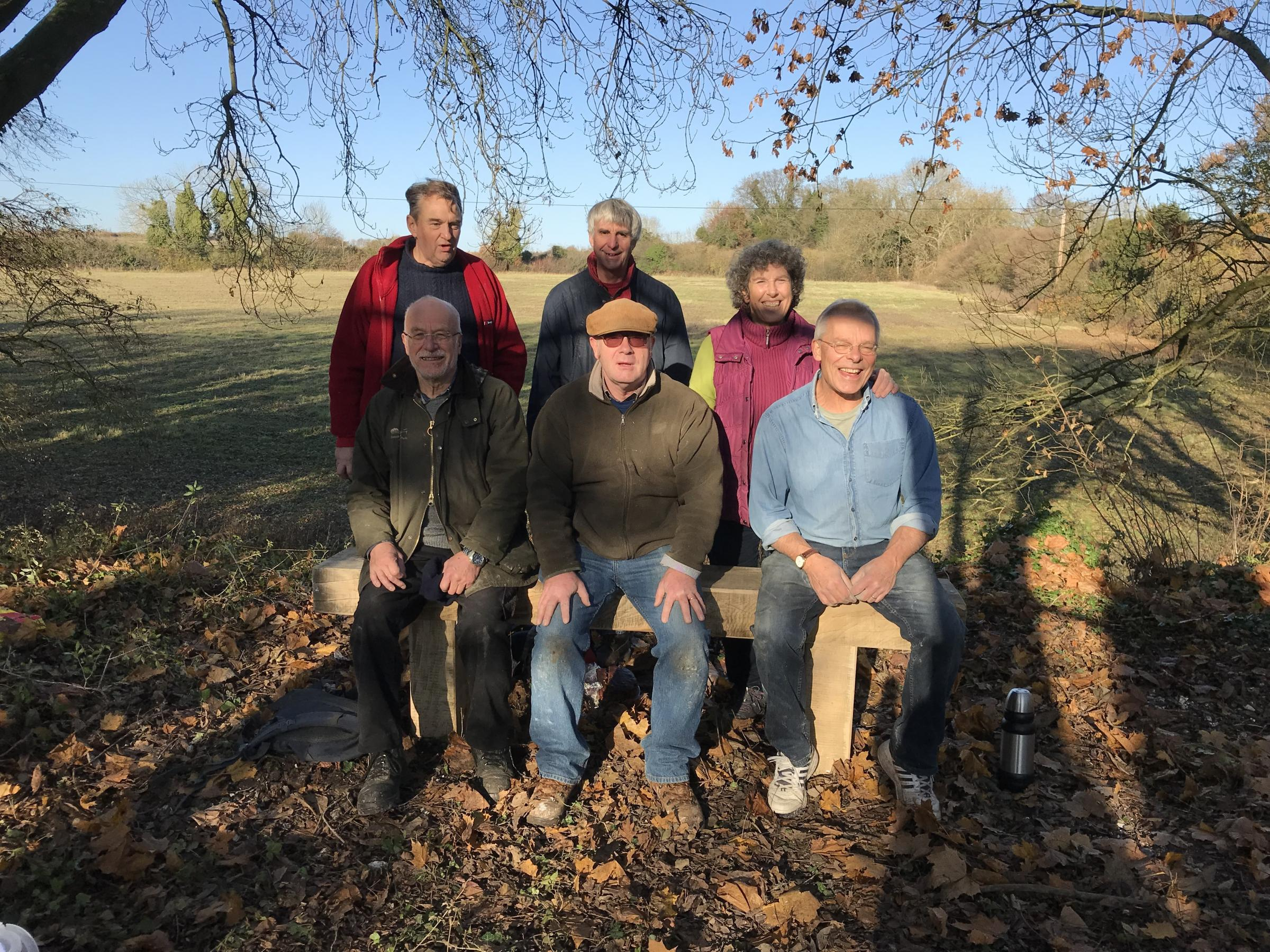 The Watercress Way, trustees on bench