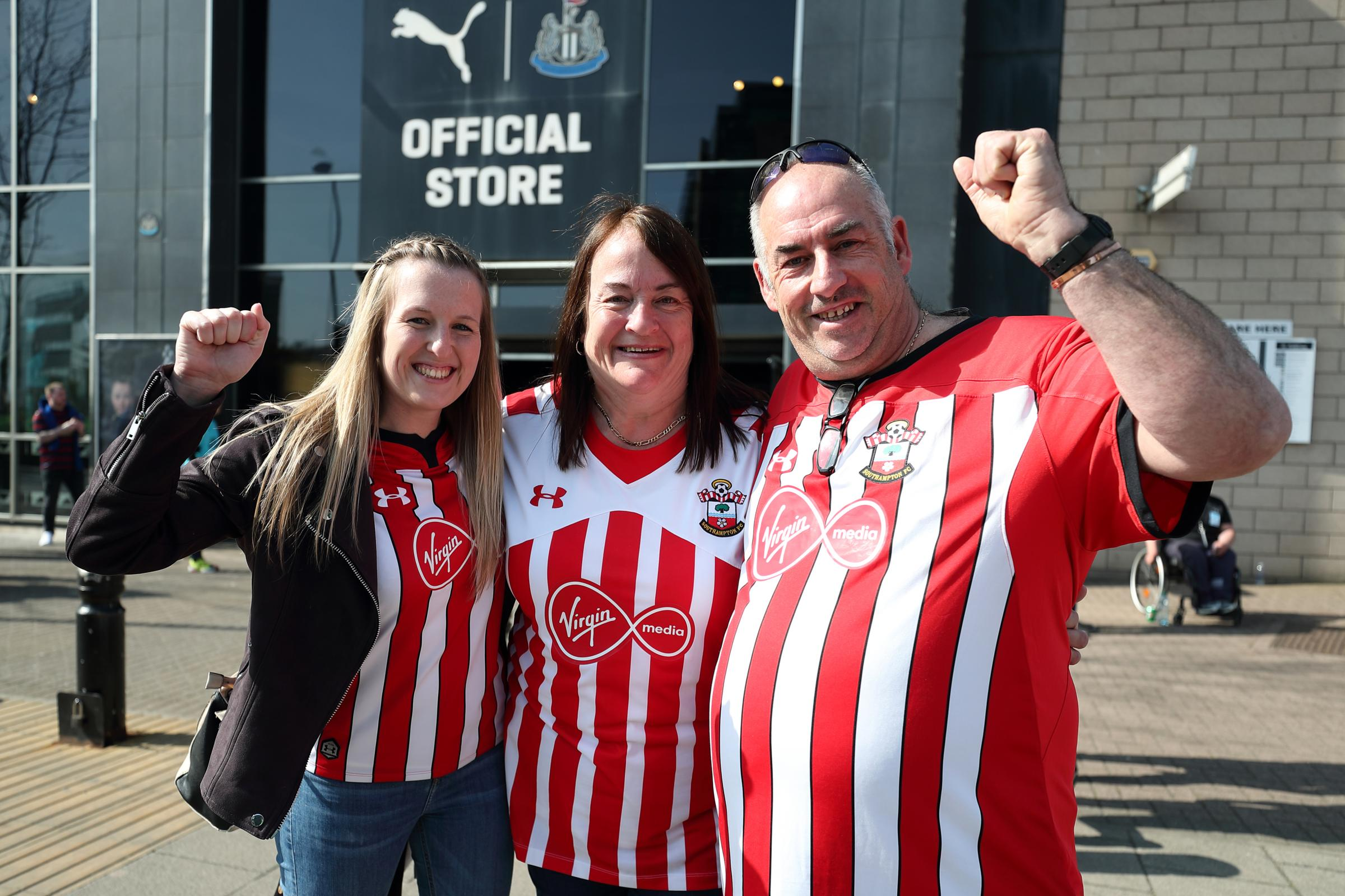 Newcastle v Saints - pictures of the fans and the action