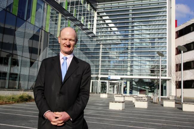 Lord Willetts duiring a visit to Southamptn University